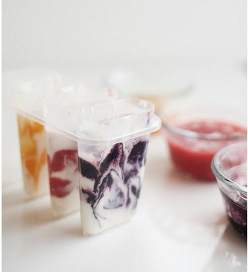 Trốn nóng hè với kem sữa chua trái cây mát lạnh