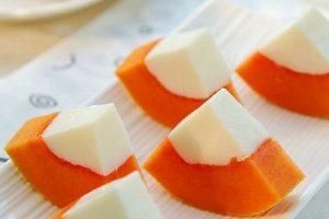 Bồi bổ sức khỏe với cách làm thạch đu đủ sữa dừa