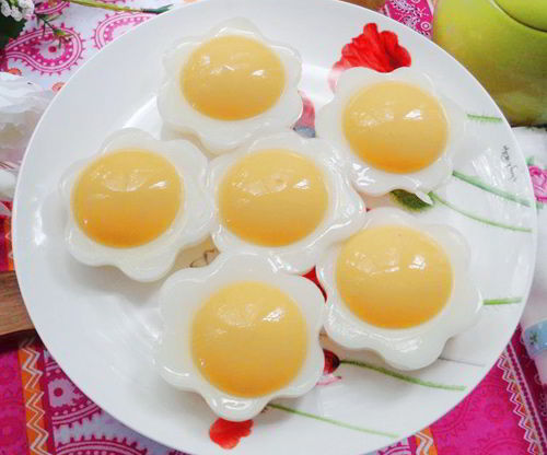 Cách làm thạch hình trứng từ xoài bé ăn hoài vẫn thích
