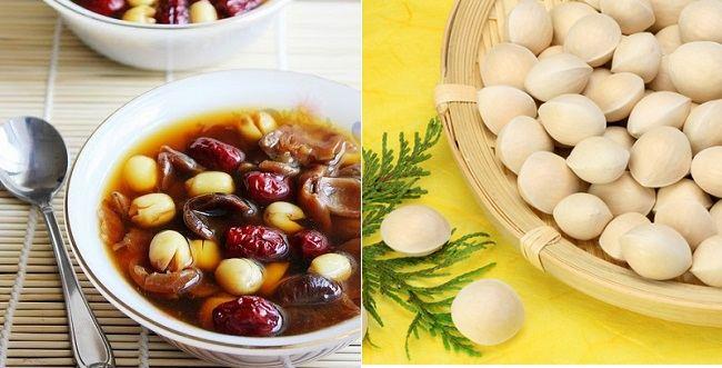 Bồi bổ cơ thể với món chè bạch quả hạt sen thơm ngon