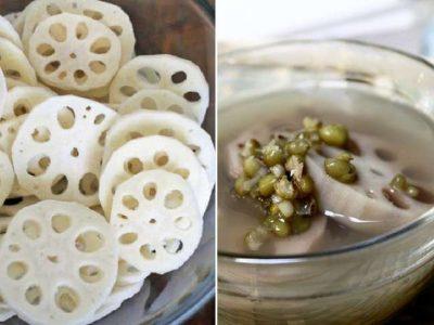 Cách nấu chè củ sen đậu xanh thơm ngon chuẩn vị hết ý
