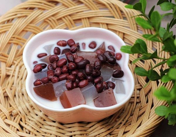 Chè đậu đỏ thạch dừa ngọt mát