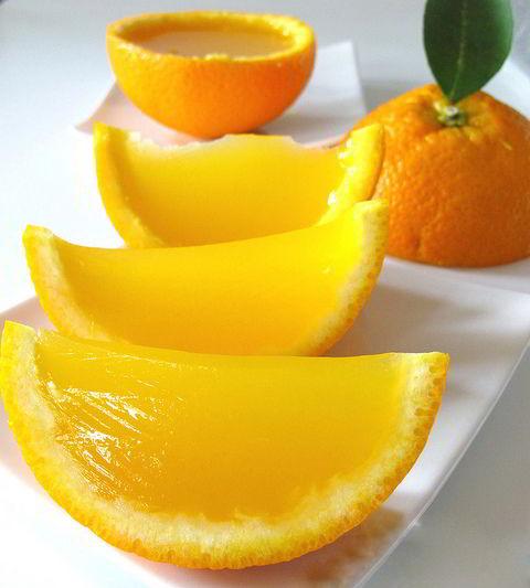 Ngày nắng vàng học cách làm thạch cam tráng miệng